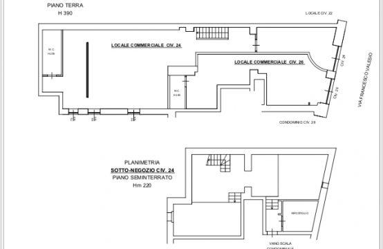 Locale commerciale C1 200mq Alberone Via Francesco Valesio, Roma – (RM)